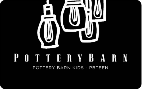 Pottery Barn Variable Amount Gift Card Perspective: front