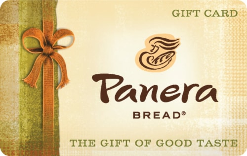 Panera Bread $15-$500 Gift Card Perspective: front