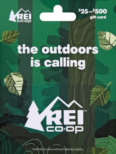 REI Variable Amount Gift Card Perspective: front