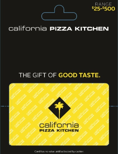 California Pizza Kitchen $25-$500 Gift Card Perspective: front