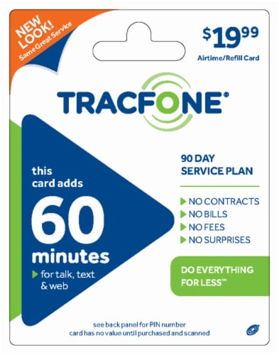 TracFone 60 Minute $20 Phone Card Perspective: front