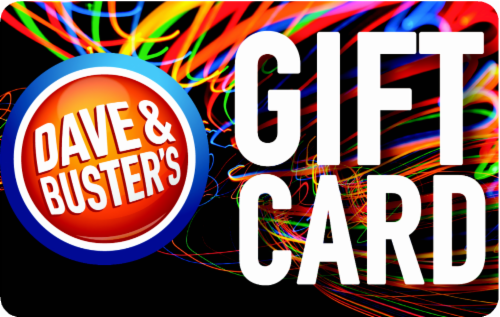 Dave & Buster's Variable Amount Gift Card Perspective: front
