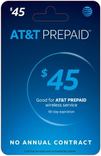AT&T $45 Phone Card Perspective: front