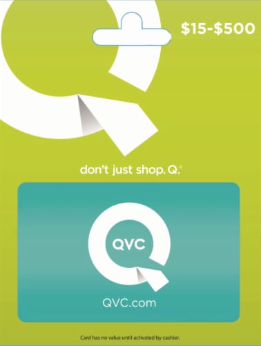 QVC Variable Amount Gift Card Perspective: front