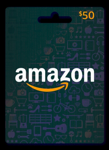 Amazon $50 Gift Card Perspective: front