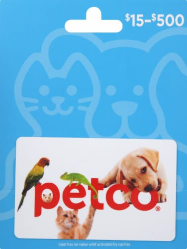 Petco Variable Amount Gift Card Perspective: front