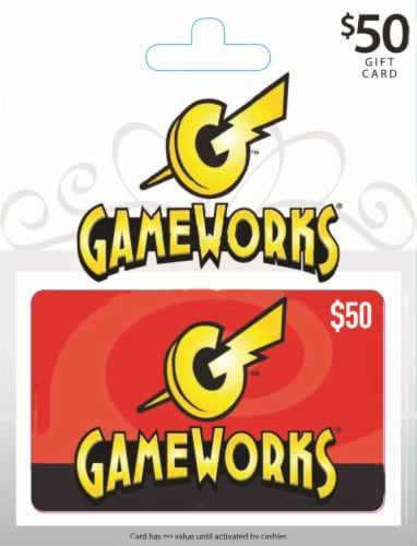 Gameworks $50 Gift Card Perspective: front
