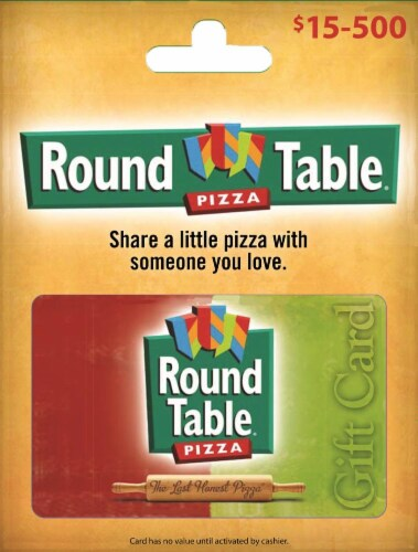Round Table Pizza Variable Amount Gift Card ($15-500) Perspective: front