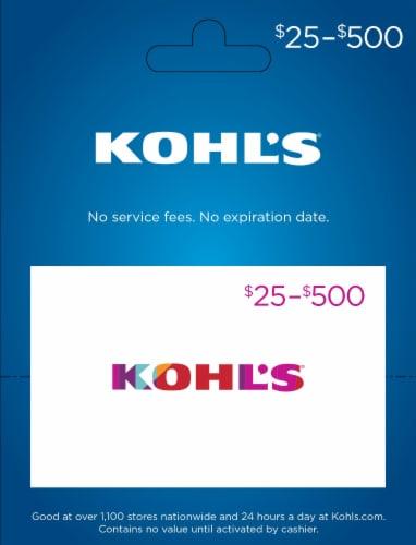 Kohls $25-$500 Gift Card Perspective: front