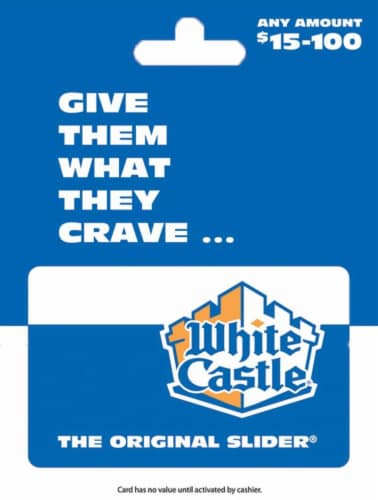White Castle $15-$100 Gift Card Perspective: front
