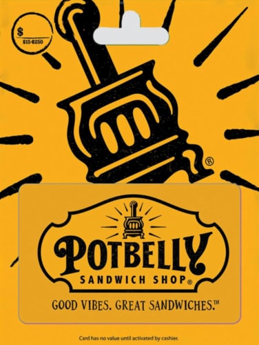 Potbelly Sandwich Shop Variable Load Gift Card Perspective: front