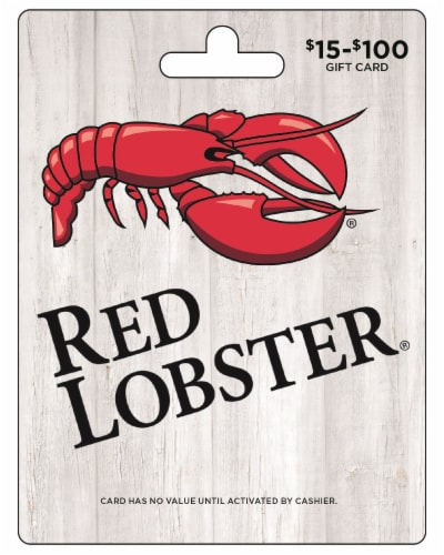 Red Lobster $15-$100 Gift Card Perspective: front