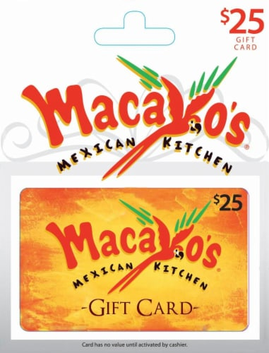 Macayo's Mexican Kitchen $25 Gift Card Perspective: front