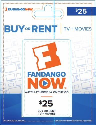 Fandango Now $25 Perspective: front