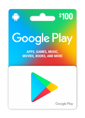 Google Play $100 Gift Card Perspective: front