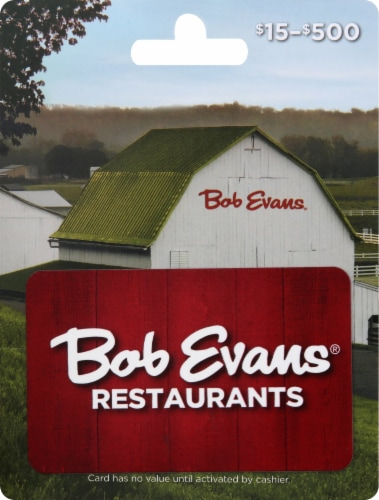 Bob Evans $15-$500 Gift Card Perspective: front