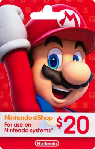 Nintendo Wii $20 Gift Card Perspective: front
