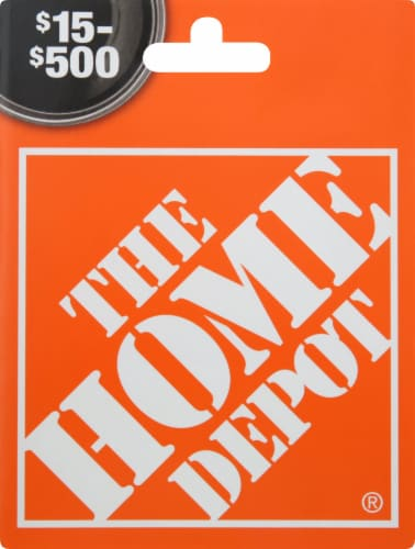 Home Depot $15-$500 Gift Card - After Pickup, visit us online to activate and add value Perspective: front