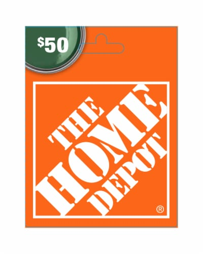 Home Depot $50 Gift Card Perspective: front