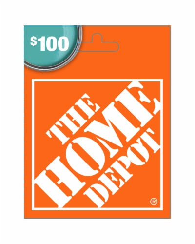 Home Depot $100 Gift Card Perspective: front