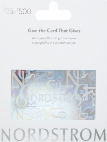 Nordstrom $25-$500 Gift Card Perspective: front