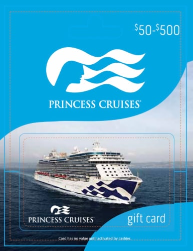 Princess Cruise Line $50-$500 Gift Card Perspective: front