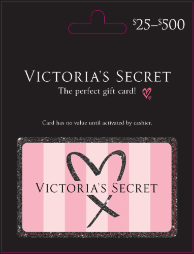 Victoria's Secret $25-$500 Gift Card - After Pickup, visit us online to activate and add value Perspective: front