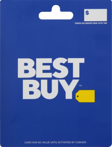 Best Buy $20-$500 Gift Card Perspective: front