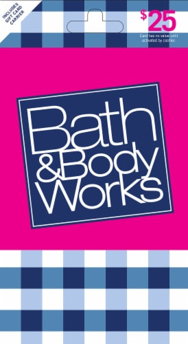 Bath & Body Works $25 Gift Card Perspective: front