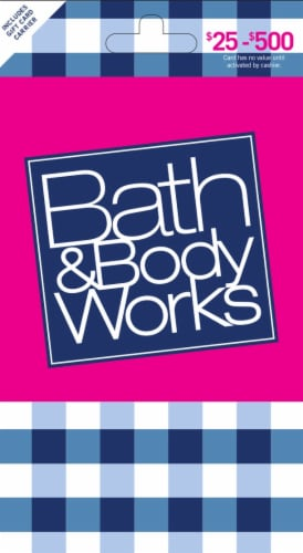 Bath & Body Works $25-$500 Gift Card - After Pickup, visit us online to activate and add value Perspective: front