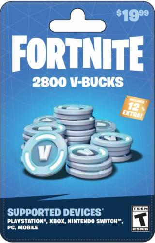Fortnite V-Bucks $19.99 Gift Card Perspective: front