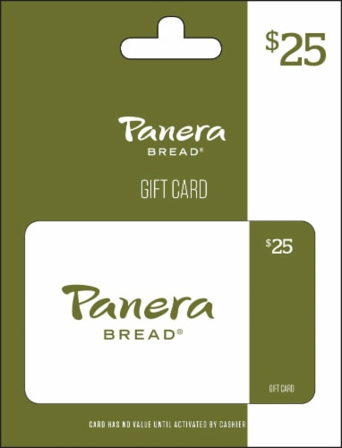 Panera Bread $25 Gift Card Perspective: front