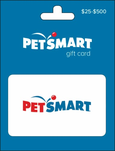 Petsmart $25-$500 Gift Card - After Pickup, visit us online to activate and add value Perspective: front