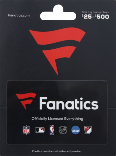Fanatics Gift Card $25 - $500 Perspective: front