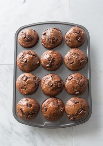 GoodCook® Mini Muffin Pan - Gray Perspective: front