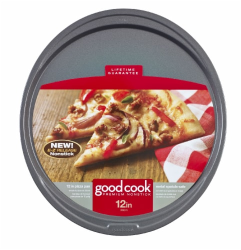 GoodCook® Premium Nonstick Pizza Pan - Gray Perspective: front