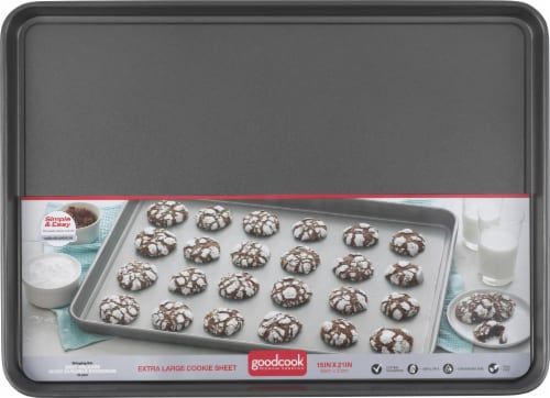 GoodCook® XL Nonstick Cookie Sheet - Gray Perspective: front