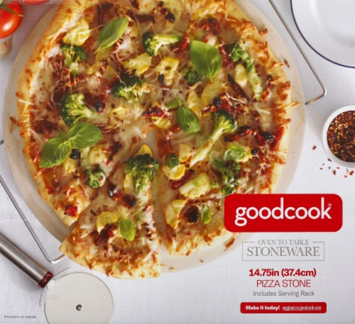 GoodCook® Pizza Stone - Beige Perspective: front