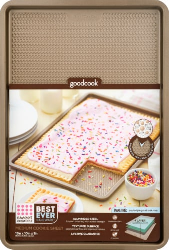 Sweet Creations by GoodCook® Medium Cookie Sheet Perspective: front