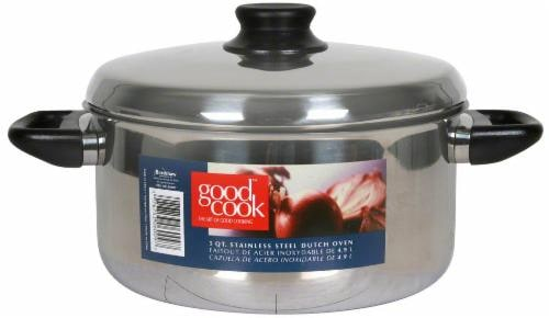 GoodCook® Stainless Steel Dutch Oven - Silver Perspective: front