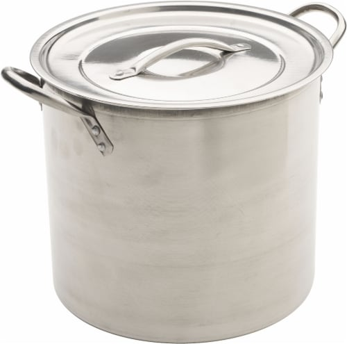 GoodCook® Stainless Steel Stock Pot with Lid - Silver Perspective: front