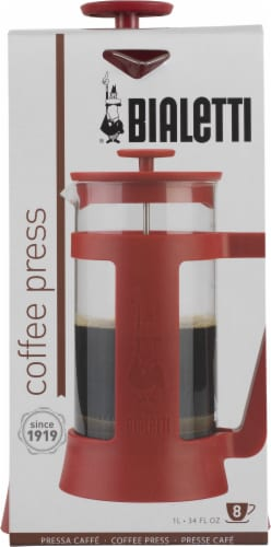 Bialetti Simplicity French Coffee Press - Red Perspective: front