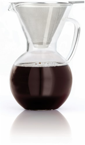 Bialetti Pour-Over Glass Carafe Perspective: front