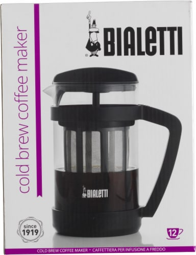 Bialetti Cold Brew Coffee Press - Black Perspective: front