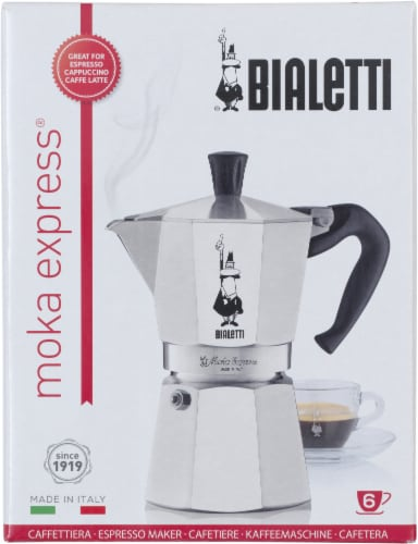 Bialetti Moka Express Espresso Maker - Silver Perspective: front