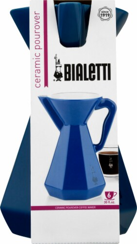 Bialetti Ceramic Pourover Carafe - Blue Perspective: front