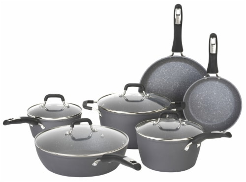 Bialetti Impact Cookware Set - Black Perspective: front