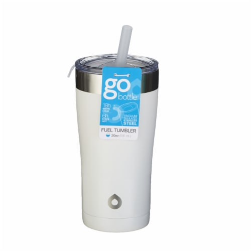 GoBottle Fuel Tumbler - White Perspective: front