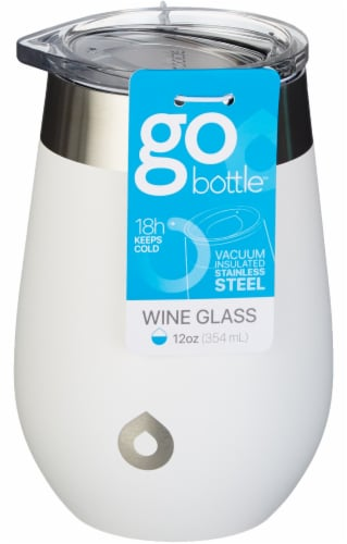GoBottle Wine Tumbler - White Perspective: front