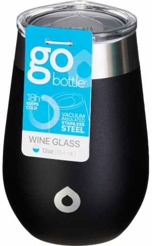 GoBottle Wine Tumbler - Black Perspective: front